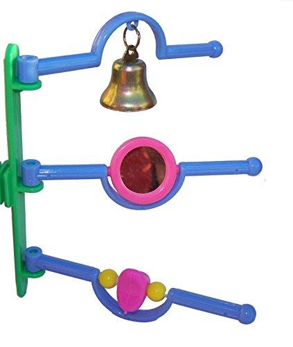 Klettergerüst Vogelspielzeug Glocke Spiegel Vogelstange Vogel Vogelleiter