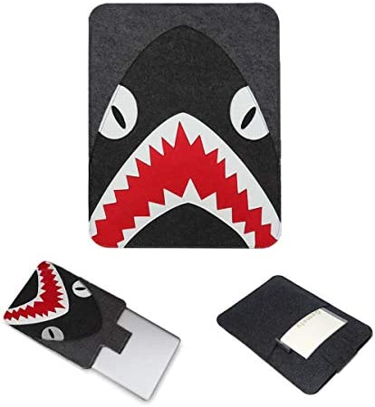 Felt Laptop Sleeve Case Shark with Pouch for Laptop 13 to 13 3 Inch Such as MacBook 13 MacBook product image