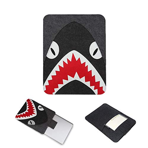 Felt Laptop Sleeve Case Shark with Pouch for Laptop 13 to 13.3 Inch Such as MacBook 13' / MacBook Air 13' / MacBook Pro 13' Retina etc. Best Gift for Children Family Thanksgiving Chritmas