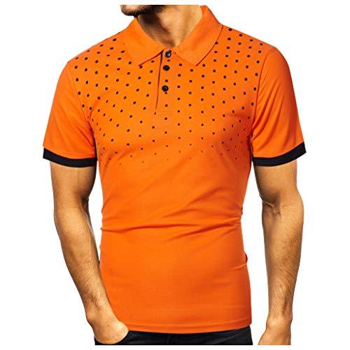 LILICAT Poloshirts für Herren Kurzarm Polohemd Baumwolle T-Shirt Fun Poloshirt Basic Henley-Hemden Sommer T-Shirt Männer Mode Slim Fit Hemden Regular Fit Kurzarmshirt Freizeithemd