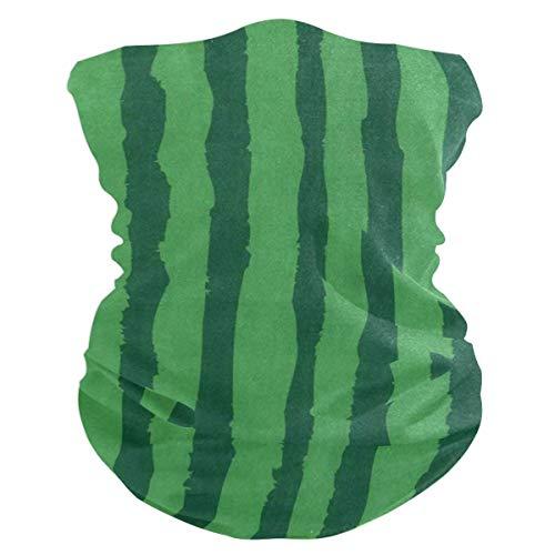 NA Bandeau pour Le Visage, protège-Visage à Rayures pastèques Vertes, Bandeau Multifonction Haut de Gamme pour Hommes-Femmes, 25X50Cm