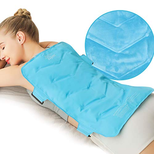 """Relief Expert Extra Large Back Ice Pack (13""""x21"""") - Reusable Ice Wrap for Back Pain Relief- Cold Compress Therapy for Ice Pads for Injuries, Swelling, Bruises & Sprains, XXL"""