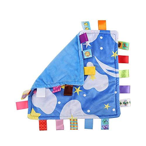 Baby Boy Mots clés Couverture de sécurité - Nouveau-né Consolateur Couverture de sécurité, Couverture Toy pour le bébé - Starry Sky