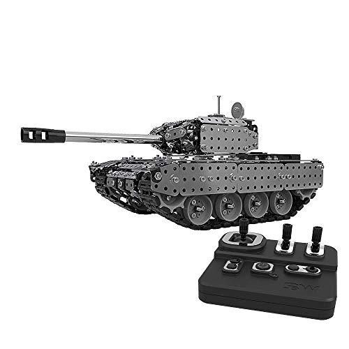 ADLIN Juguetes al aire libre for la Educación, Rc tanque con cargador USB cable de control remoto del tanque Panzer 1:72 alemán Tiger I con el sonido, la torreta giratoria y el retroceso Acción Cuando