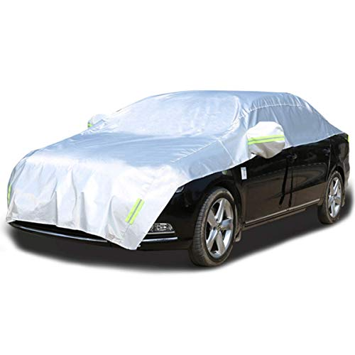 LINFEN ボディカバー カーカバー 車 4層構造 裏起毛タイプ 防水防塵防輻射紫外線 車カバー 汎用 (一般車用)