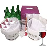 WineBuddy Cabernet Sauvignon Complete Home Brew Starter Kit with Green Glass Wine Bottles and Brewing Sugar