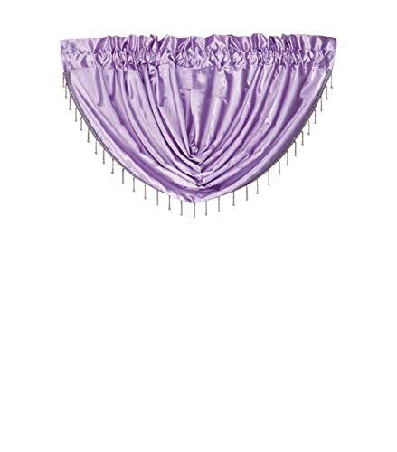 OctoRose Royalty Custom Waterfall Window Valance Swags & Tails, Window Curtain Set, Curtain Panel (Lavender, 66x37inch)