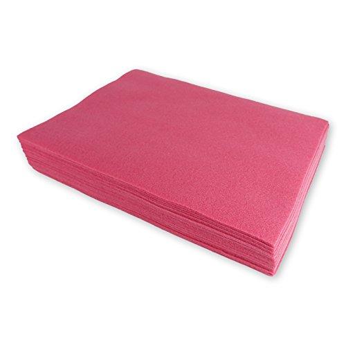 Feltro sintetico a taglio, rosa antico, circa 23 x 30 cm - 25 pezzi