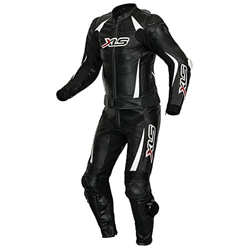 XLS Lederkombi, Herren Zweiteiler, Schwarz Weiß, Echtleder, zweiteilige Motorradkombi… (50)