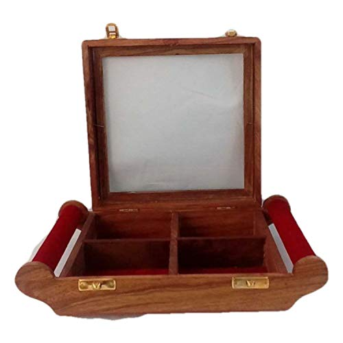 Antique Wooden Dry Fruit Box Sweet Box Jewelry Box Festival Gifting Box 10x8 Inch | Made by Awarded Indian Artisan
