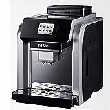 Máquina de café Cafetera, máquina de café espresso de un solo botón Cappuccino Cafetera Sistema de limpieza automática 20Bar 2L 300G Grano de café Grinillo 15 Polvo Cake Touch Switch Máquina...