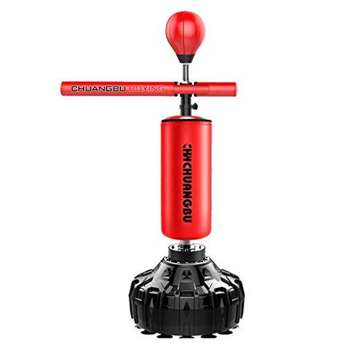 Fokusboxsäcke Boxing Sandsäcke Erwachsenen Boxen Drehbare Vertikale Reaktion Zielfamilie Fitness Virtuelle Ausrüstung Übungsgeräte (Color : Red, Size : 65 * 65 * 175 cm)
