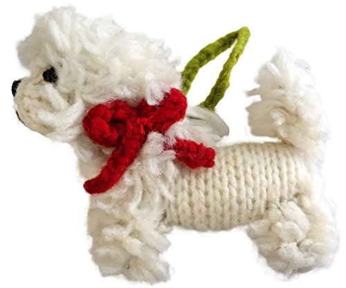 Chilly Dog Bichon Frise Dog Ornament