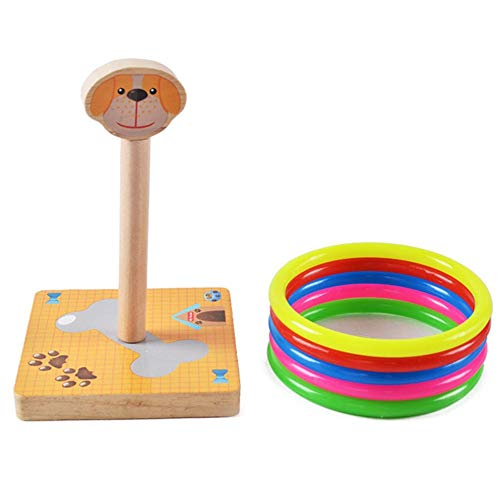 thelastplanet Wurfspiel Tierringspiel Kinderspielzeug Holzwurfring Osterspiele