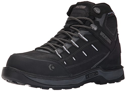 WOLVERINE Men's Edge LX Nano Toe-M, Black/Grey, 7.5 M...