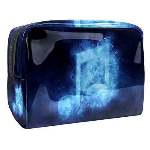 Magic Sun and Moon Trousse de maquillage multifonction, sac de toilette étanche avec fermeture éclair pour femme multicolore 05 18.5x7.5x13cm/7.3x3x5.1in
