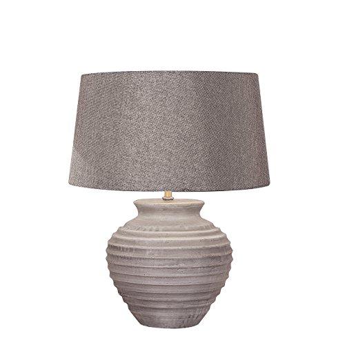 Meubletmoi tafellamp beton lampenkap stof grijs antraciet - klassiek design - ETNA