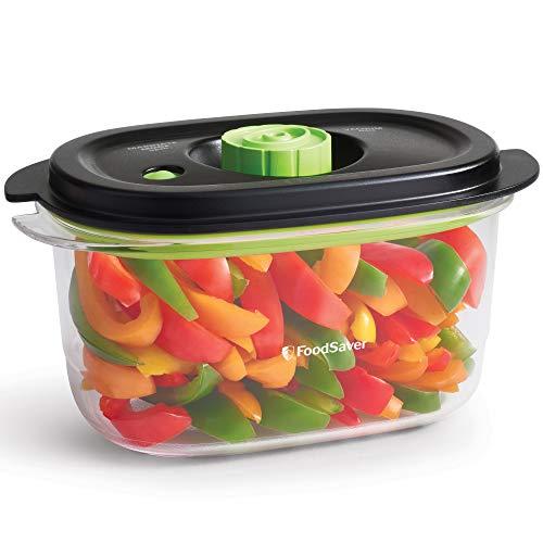 FoodSaver Recipiente para conservar y marinar al vacío, Hermético, Libre de BPA, A prueba de fugas, Apto lavavajillas, 1.2 L