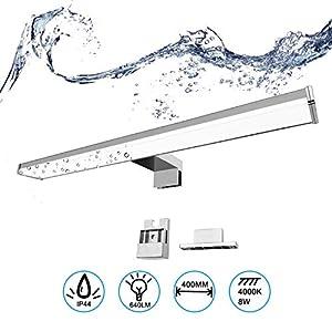 BarcelonaLed Aplique Lámapra de Baño LED para Espejo, Armario o Pared 8W 40cm Impermeable IP44 Luz Blanco Neutro 4000K…