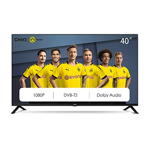 CHiQ L40G4500 40' Full HD LED LCD TV,40 Pouces (101cm), titple tunner (DVBT / T2 / C / S2), Lecteur Multimédia Via Port USB Téléviseur,Dolby Audio,3 HDMI, 2 USB, Direct LED