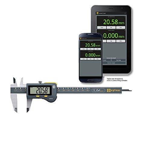 Sylvac Digital Messschieber IP67 S_Cal EVO 150 mm Ablesung: 0,01 mm (8101516) Built-in Bluetooth integriert Tiefenmaß: rund, Ø 1.5 mm Aktionspreis gültig bis 28.02.2020