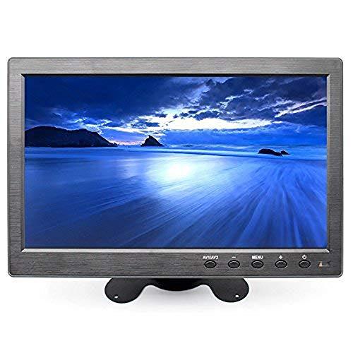 Vetrineinrete Monitor 10'' pollici LCD HD portatile HDMI VGA USB BNC per videosorveglianza telecamera auto 2 canali video 720p con telecomando casse incorporate M79