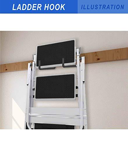 POETISKE Heavy Duty Screw in Ladder Hooks Good Garage Storage Organizer Vinyl Coated Black 4Pack