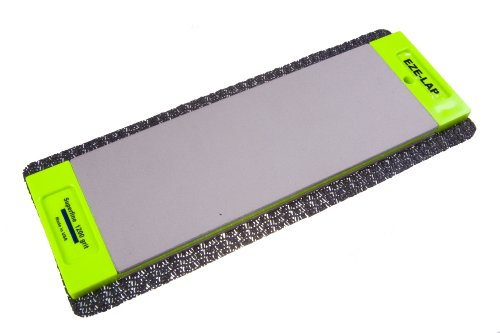 EZE-LAP DD8SF/M 3 by 8 Double Sided Diamond Sharpening Stone SF/M, Non Skid Pad Included