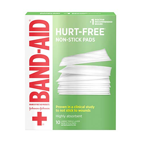 Bandaid First Aid 3X4 in Nonstick Pads 10 ct by Band-Aid