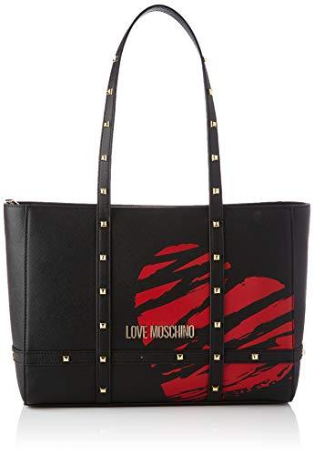 Love Moschino Damen Precollezione SS21 | Borsa Shopper PU da Donna Umhngetasche, Schwarz, Normal