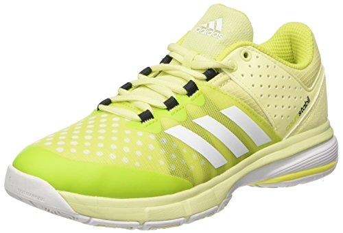adidas adidas Damen Court Stabil W Laufschuhe, Mehrfarbig (Ice Yellow F16/ftwr White/Utility Black F16), 37 1/3 EU