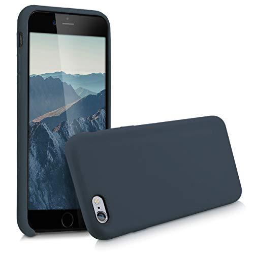 kwmobile Hülle kompatibel mit Apple iPhone 6 / 6S - Handyhülle gummiert - Handy Case in Dunkelblau matt