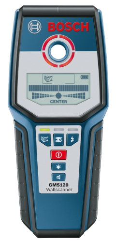 Bosch GMS120 Digital Multi-Scanner with Modes for Wood, Metal, and Live Wiring