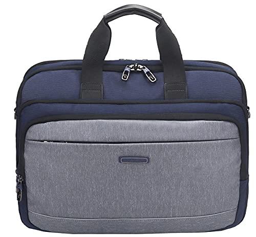 DDXJKL zaino Nuova borsa per laptop borsa da lavoro a tracolla messenger da uomo di grande capacità-blu_18 pollici