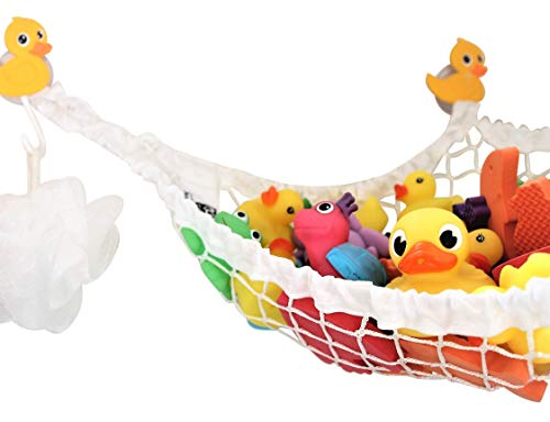 MiniOwls, Hängematte zum Aufbewahren von Spielzeug für die Badewanne gelb