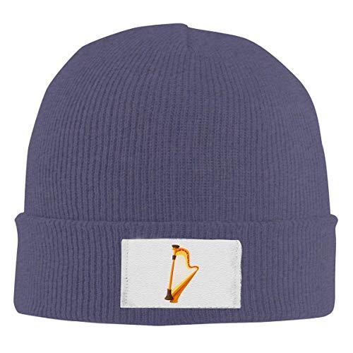 Lawenp Gorros tejidos Beanie Gorro de calavera Harp Winter Warm Hat para hombres y mujeres