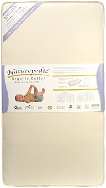 Naturepedic No Compromise 252 2 In 1 Ultra Organic Crib Mattress