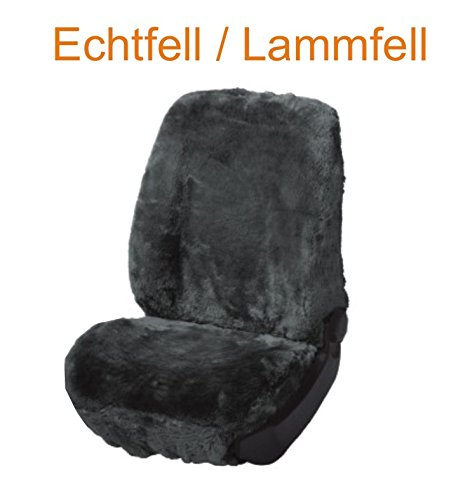 RAU Universal Autositzbezug Fahrer Echtfell Lammfell anthrazit, Fahrzeug Siehe Text