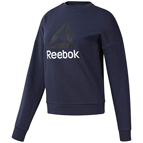Reebok Wor Big Logo Coverup Sudadera, Mujer, hernvy, 2XS