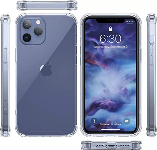 CASE FUNDA ESTUCHE FORRO iPhone 12 PRO MAX, ALTA CALIDAD CON ESQUINAS PROTECTORAS, Incluye Gratis Protector de pantalla de vidrio.