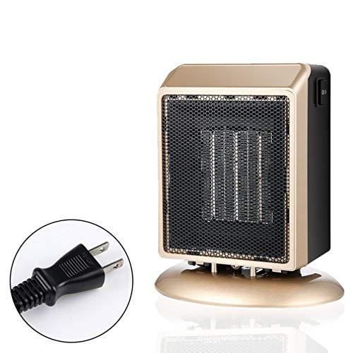 WEQQ Mini Calentadores Calentadores Cuadrados de Escritorio pequeños Calentador de hogar con Ventilador cálido y Caliente de Velocidad (goldJapan)