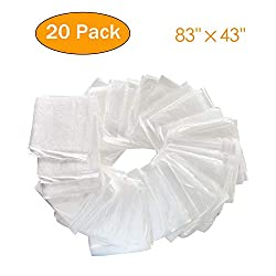 PinJaze Plastic Disposable 20-Pieces Body Wrap Film 83?L?×43?W? Inches Sauna Blanket Liners with Open Side Openings Far Infrared Sauna Blanket Accessories for Use in Saunas