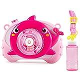 PQZATX Rosa-Kinder Sound und Licht Elektrische Delphin-Blasenmaschine Automatische EIN-Knopf-Blasenblasen Ohne Batterie
