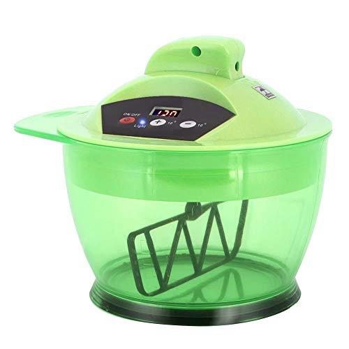 Professionele Elektrische Haarkleuring Mengkom Automatische Mixer voor Haren Kleurenmix DIY Tools Salon Haarkleuring Kom met LCD Tijdweergave USB Oplaadbaar(Green)