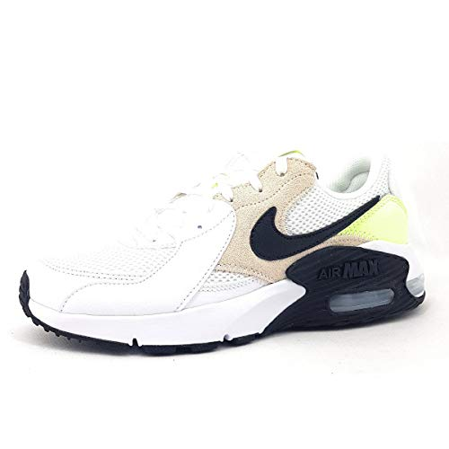 Nike Damen Air Max Excee Walking-Schuh, White/Black-Barely Volt-LT ORE, 38 EU