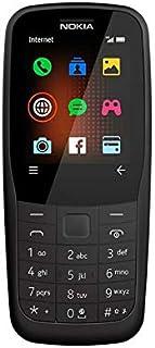Nokia 220 Feature Phone, 4G, Dual SIM, 16 MB RAM - Black