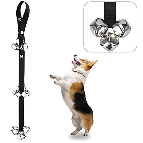 of leather dogs dec 2021 theres one clear winner Alinana Dog Doorbells for Potty Training, Door Bells for Dogs to Ring to Go Outside, 3 Snaps Adjustable Dog Bell for Door Potty Training