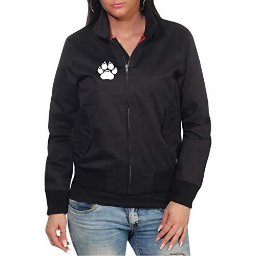 dog like a boss Frauen und Damen Harrington Jacke Vorsicht vor dem Frauchen Der Hund ist harmlos (mit Rückendruck) Größe S bis XXL