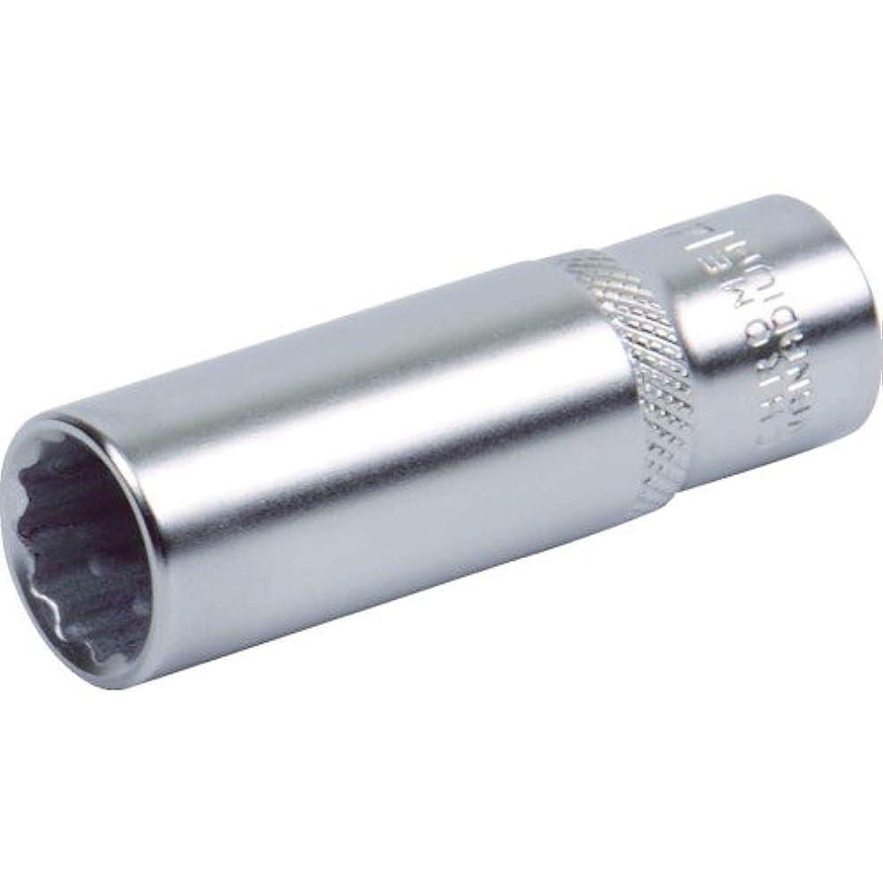 すり減る背の高い情緒的TRUSCO ディープソケット(12角) 差込角9.5 対辺24mm TS324WL