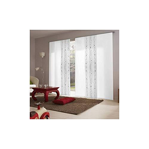 madecostore - Panel japonés ocultante con Olas – Blanco – 45 x 260 cm (Longitud x Altura)